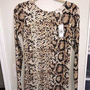 snake skin / cheetah print dress
